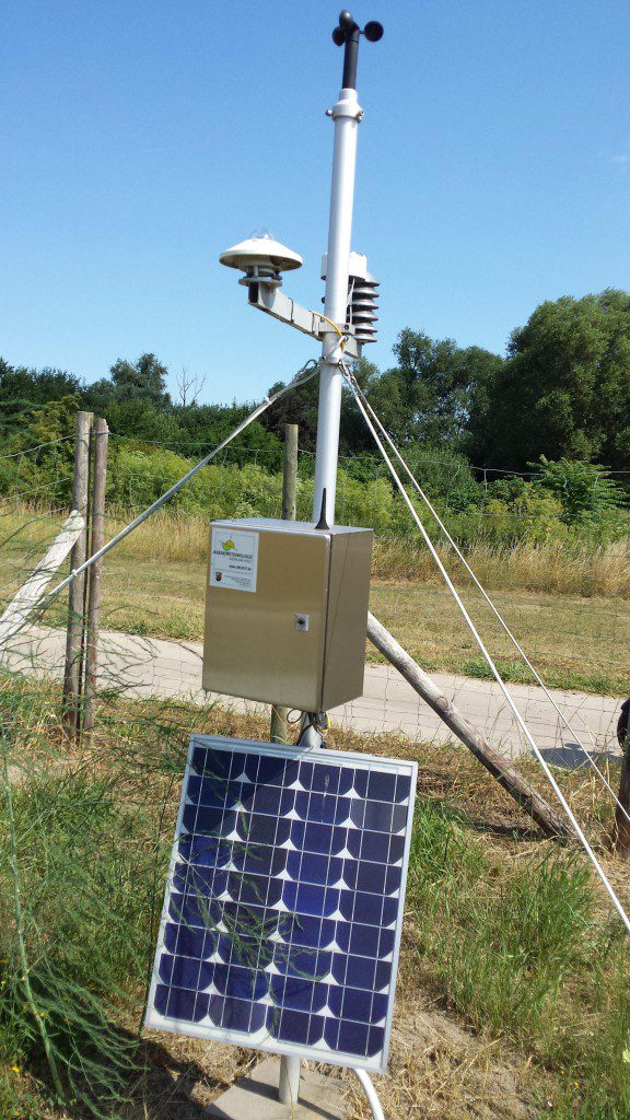 Solarzelle und Windmesser